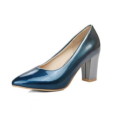 Mulheres Sapatos Sintético Couro Ecológico Verão Outono Conforto Inovador Saltos Caminhada Salto Robusto Dedo Apontado para Casamento