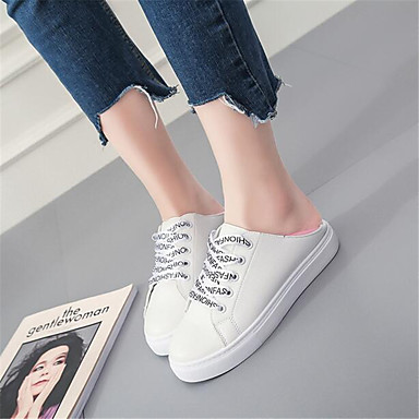 Women's Shoes Breathable Mesh PU Spring Comfort Sneakers For Casual Pink/White Black/White