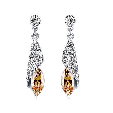 Women's Drop Earrings Cubic Zirconia AAA Cubic Zirconia Basic Unique Design Dangling Style Rhinestone Heart Natural Geometric Friendship