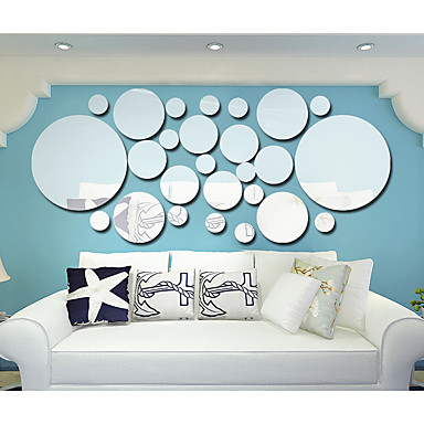 Abstract Shapes 3D Wall Stickers Plane Wall Stickers 3D Wall Stickers Mirror Wall Stickers Decorative Wall Stickers 3D, Acrylic Home
