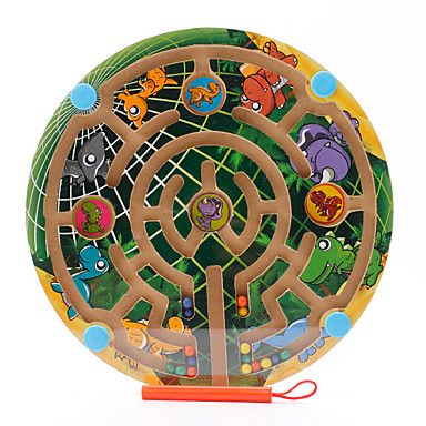 Maze & Sequential Puzzles Maze Magnetic Maze Toys Magnetic Flat Shape Wood Iron Cartoon 1 Pieces Children's Christmas Children's Day Gift