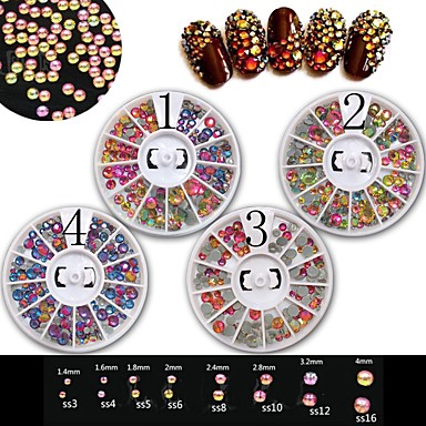 1 pcs Acrylic / Fashion Glow Daily Nail Art Design