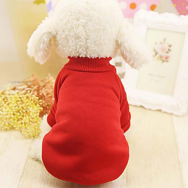Dog Sweatshirt Dog Clothes Solid Colored Black Red Blue Pink Cotton Costume For Pets Men's Women's Casual / Daily