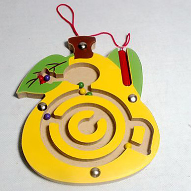 Jogos de Labirinto & Lógica Labirinto Labirintos Magnéticos Jogos Pai e Filhos Brinquedos Avião Pato Magnética Madeira Crianças 1 Peças