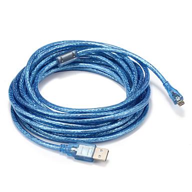 USB 2.0 Kaapeli, USB 2.0 to Micro USB tyyppi B Kaapeli Uros - Uros 5.0m (16ft)