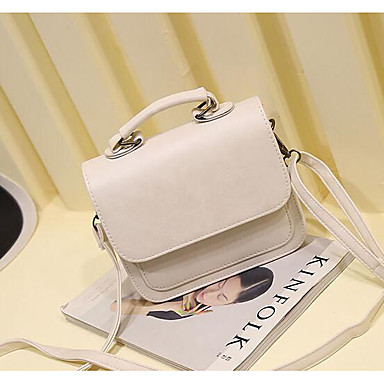 Women Bags All Seasons PU Tote for Casual Outdoor White Black Blushing Pink