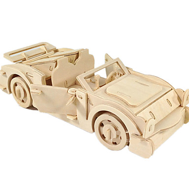 Toy Cars 3D Puzzles Jigsaw Puzzle Wood Model Toys Plane / Aircraft Car 3D DIY Wood Not Specified Boys Unisex Pieces