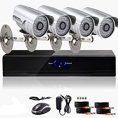ultra nízká cena 4k cctv dvr kit (4 venkovní vodotěsné 800tvl barevné kamery)