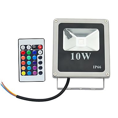 abordables Éclairage Extérieur-1pc 10 W 800 lm 1 Perles LED LED Haute Puissance Commandée à Distance RVB 85-265 V