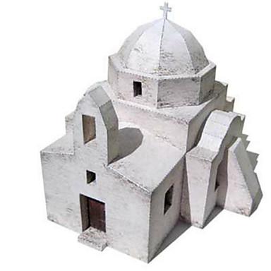 Quebra-Cabeças 3D Maquetes de Papel Artesanato de Papel Brinquedos de Montar Quadrada Construções Famosas Arquitetura Faça Você Mesmo