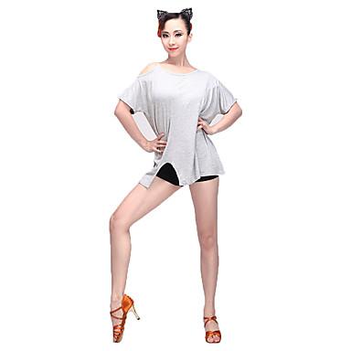 Latin Dance Women's Performance Modal Short Sleeve Top