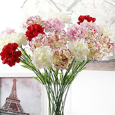 Flores artificiais 10pcs Ramo Moderna Modern Plantas Flor de Mesa