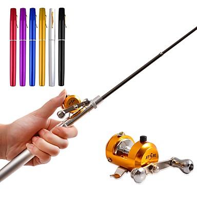 Fishing Rod + Reel Mini Rod / Pen Rod Fishing Reel Fishing Rod Ice Fishing Reel Pen-Rod 100 cm Bait Casting Ice Fishing Freshwater