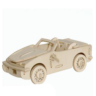 Quebra-Cabeças 3D Quebra-Cabeças de Metal Modelos de madeira Brinquedos de Montar Carro Faça Você Mesmo Madeira Natural Clássico Unisexo