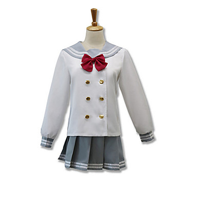 Cosplay Suits Cosplay Tops/Bottoms Cosplay Accessories Inspired by Love Live Cosplay Anime Cosplay Accessories Cravat Top Skirt Cotton