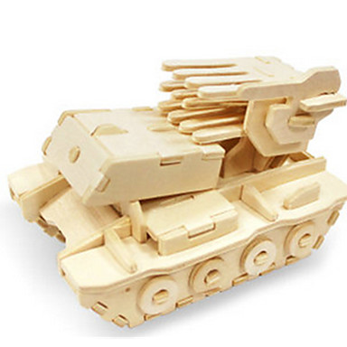 3D Puzzles Jigsaw Puzzle Wood Model Dinosaur Tank Plane / Aircraft Chariot 3D DIY Wooden Wood Classic Unisex Gift