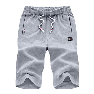 Herre Shorts til jogging Fort Tørring Fritid/hverdag Shorts til Løper Trening & Fitness Polyester Løstsittende Svart Grå Lysegrå L XL XXL