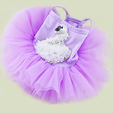 Dog Dress Dog Clothes Princess White Purple Pink Chiffon Cotton Costume For Pets Summer Men's Women's Casual / Daily