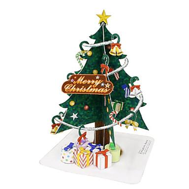 3D-puslespill Juletrær Papirkunst Leketøy Jul 3D GDS Møbler artikler Unisex Deler