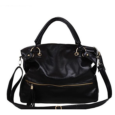 Women's Bags PU Polyester Shoulder Bag for Casual Outdoor All Seasons Black