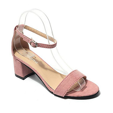 Women's Shoes PU Summer Comfort Sandals For Casual Black Yellow Blushing Pink