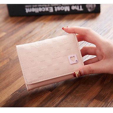 Women Bags All Seasons PU Polyester Coin Purse for Casual Outdoor Black Blushing Pink Light Blue