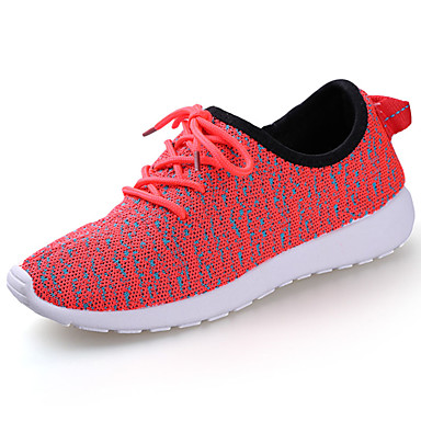 Women's Athletic Shoes Comfort Spring Fall PU Outdoor White Black Ruby Blushing Pink Flat