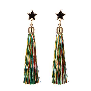Women's Drop Earrings Tassel Chrome Line Jewelry Daily Casual