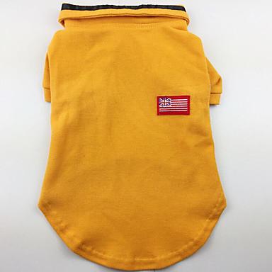 Cachorro Camiseta Roupas para Cães Casual Sólido Cinzento Amarelo Verde Ocasiões Especiais Para animais de estimação