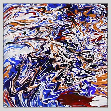 Hang-Painted öljymaalaus Maalattu - Abstrakti Abstrakti Pastoraali Realismi Kangas