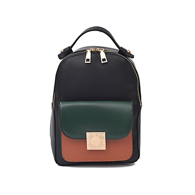 Women Bags PU Oxford Cloth Backpack for Casual Outdoor Summer All Seasons Brown Green Black Red