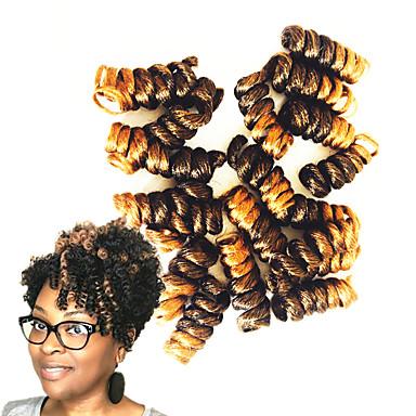10pc in a pack 8 inch crochet bouncy curl twist braids hair extensions kanekalon hair braids 5pack for a head
