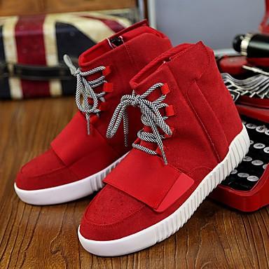 Men's Fabric Summer Comfort Sneakers Black / Gray / Red