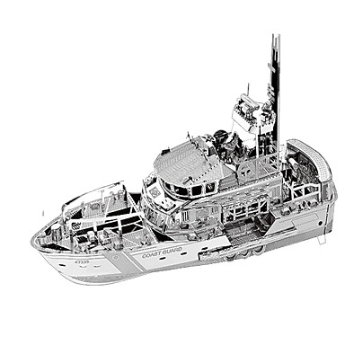 3D Puzzles Metal Puzzles Model Building Kits Toys Warship 3D Furnishing Articles Chrome Metal Not Specified Pieces