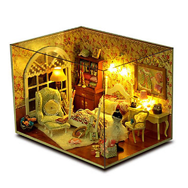 CUTE ROOM Wood Model Model Building Kit DIY House Plastics Wood Pieces Unisex Gift