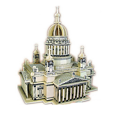3D építőjátékok Fejtörő Wood Model Modeli i makete Templom tettetés DIY Fa Klasszikus Gyermek Felnőttek Uniszex Ajándék