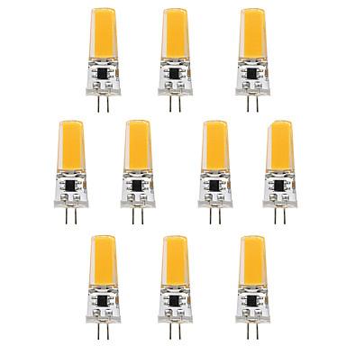 BRELONG® 10pçs 3W 300 lm G4 Luminárias de LED  Duplo-Pin T 1 leds COB Branco Quente Branco