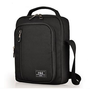Men Shoulder Bag Polyester Cotton All Seasons Casual Outdoor Square Zipper Black