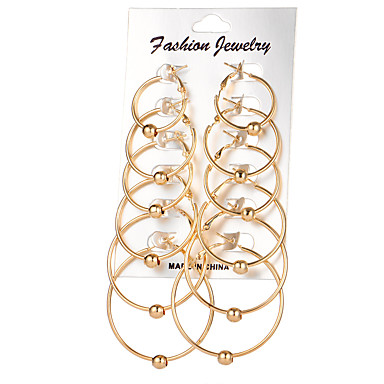 Women's Rhinestone Hoop Earrings - Circular Gold Silver Earrings For Wedding Party Daily Casual
