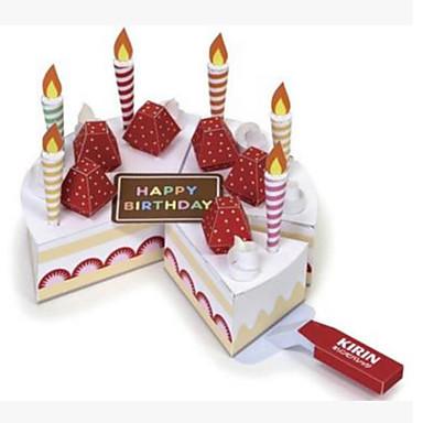 voordelige 3D-puzzels-3D-puzzels Speelgoedeten Papierkunst Voedsel Cake Dessert levensecht Kindveilig DHZ Muovi Hard Kaart Paper Klassiek Kinderen Unisex Speeltjes Geschenk