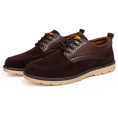 Men's Shoes Nubuck leather Spring Fall Comfort Oxfords For Casual Black Yellow Brown Blue