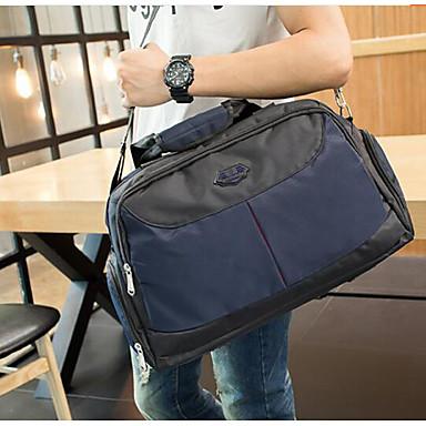 Unisex Travel Bag Oxford Cloth Polyester All Seasons Casual Outdoor Rectangle Zipper Blue Black Fuchsia