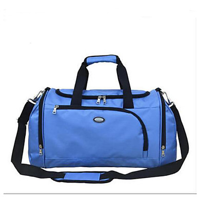 Women Travel Bag Polyester All Seasons Casual Outdoor Rectangle Zipper Black Red sky blue