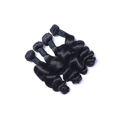 Brasiliansk hår Løse bølger Hårvever med menneskehår 4 deler Menneskehår Vevet