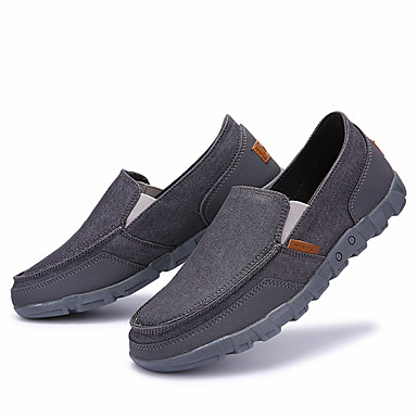 Men's Shoes PU Spring Fall Gladiator Loafers & Slip-Ons for Outdoor Gray Navy Blue Khaki Burgundy