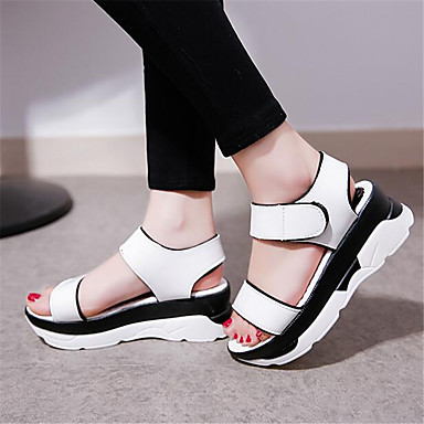 Women's Shoes PU Spring Comfort Sandals For Casual White Silver