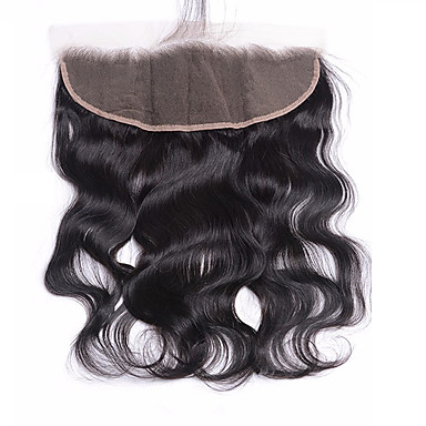 4x13 Closure Body Wave Swiss Lace Virgin Human Hair Women's Daily