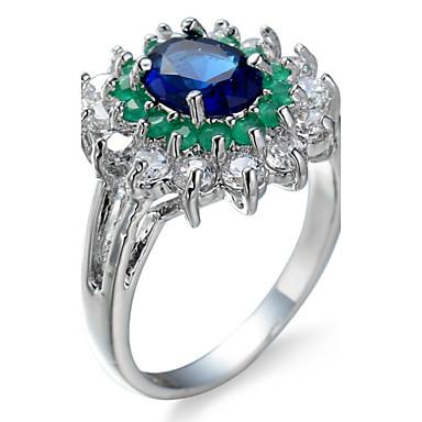 Women's Ring Settings Ring Band Rings Cubic Zirconia Personalized Luxury Circular Geometric Unique Design Classic Rhinestone Bohemian