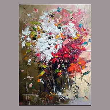 Maalattu Abstrakti Moderni/nykyaikainen 1 paneeli Kanvas Hang-Painted öljymaalaus For Kodinsisustus