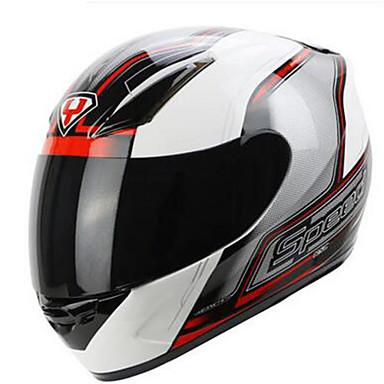 YOHE YH-991-3-9 Motorcycle Helmet Men & Women Summer Full Cover Racer Anti-Fog Helmet Utility Helmet Electric Car Helmet Black Silver Death Edition
